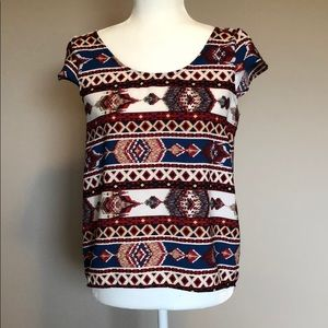 Pink Rose Tribal Top (Size S)